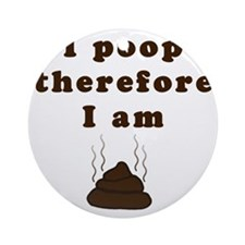 poop_infant_longsleeve Round Ornament
