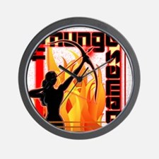katniss on fire version 6 copy Wall Clock