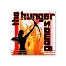 "katniss on fire version 6 c Square Sticker 3"" x 3"""