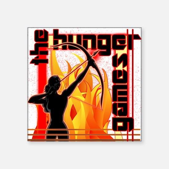 "katniss on fire version 6 c Square Sticker 3"" x 3"""