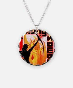 katniss on fire version 6 co Necklace Circle Charm