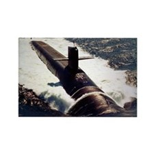 michigan ssbn framed panel print Rectangle Magnet