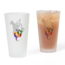 panem map Drinking Glass