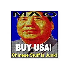 "buyusa_maotsetung Square Sticker 3"" x 3"""