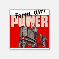 """farmgirlpower Square Sticker 3"""" x 3"""""""
