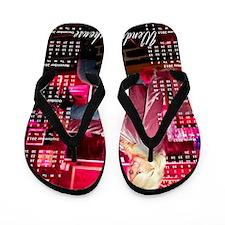 Wendy print-2 Flip Flops