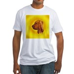 Beautiful Bloodhound Head stu Fitted T-Shirt