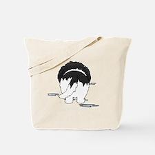 LandseerDroolMirrorDark Tote Bag