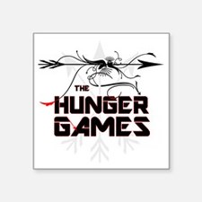 """hunger games bold text with Square Sticker 3"""" x 3"""""""