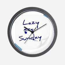 Lazy ass Sunday Wall Clock