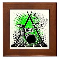 Drums  Sticks Framed Tile