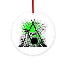 Drums  Sticks Round Ornament