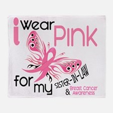 - I Wear Pink for my Sister-In-Law Throw Blanket