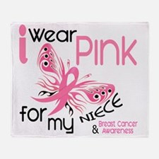 - I Wear Pink for my Niece Throw Blanket