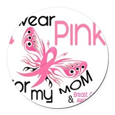 - I Wear Pink for my Mom Round Car Magnet