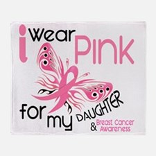 - I Wear Pink for my Daughter Throw Blanket
