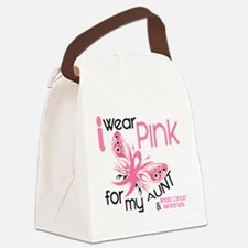 - I Wear Pink Aunt Canvas Lunch Bag