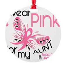 - I Wear Pink Aunt Ornament