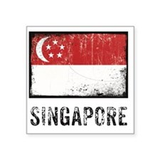 "vintageSingapore3 Square Sticker 3"" x 3"""