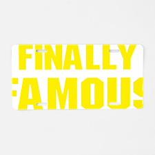 fFamous1F Aluminum License Plate