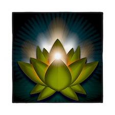 Chakra Lotus - Heart Green - Banner Queen Duvet