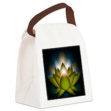 Chakra Lotus - Heart Green - Gree Canvas Lunch Bag
