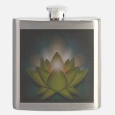 Chakra Lotus - Heart Green - Greeting Card Flask