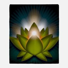 Chakra Lotus - Heart Green - Greetin Throw Blanket