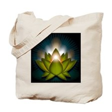 Chakra Lotus - Heart Green - Stadium Blan Tote Bag
