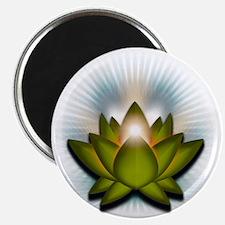 Chakra Lotus - Heart Green Magnet
