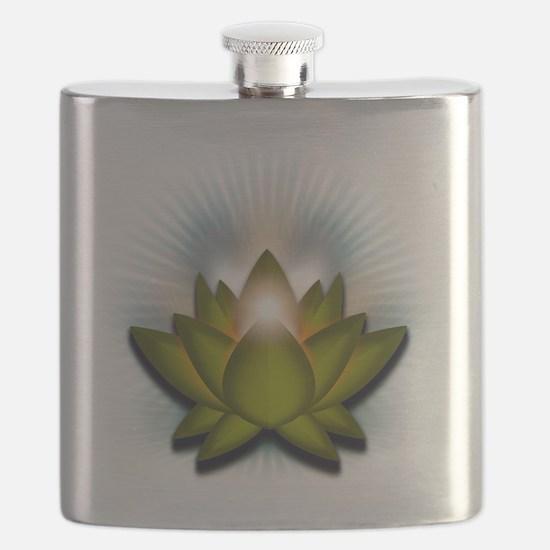 Chakra Lotus - Heart Green Flask