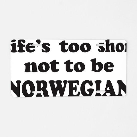 norwegian1B Aluminum License Plate