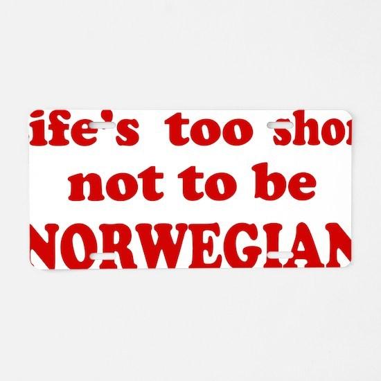 norwegian1D Aluminum License Plate