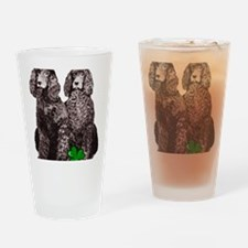 irish water spaniels brown Drinking Glass