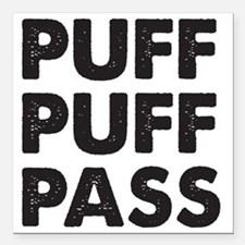 "puff1D Square Car Magnet 3"" x 3"""