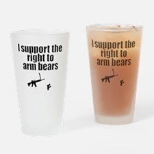 Right to arm bears Drinking Glass