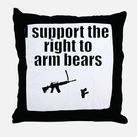 Right to arm bears Throw Pillow