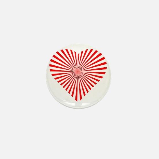 Illusion Heart Mini Button