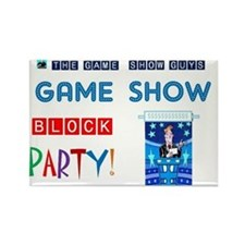game show party title card 2a 201 Rectangle Magnet