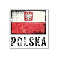 "vintagePoland9 Square Sticker 3"" x 3"""