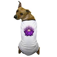 Chakra Lotus - Crown Violet Dog T-Shirt