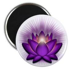 Chakra Lotus - Crown Violet Magnet