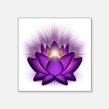 "Chakra Lotus - Crown Violet Square Sticker 3"" x 3"""