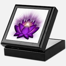 Chakra Lotus - Crown Violet Keepsake Box