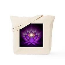 Chakra Lotus - Crown Violet - square Tote Bag