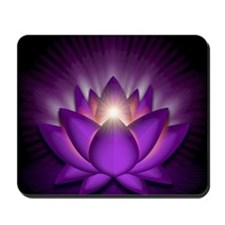 Chakra Lotus - Crown Violet - square Mousepad