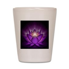 Chakra Lotus - Crown Violet - greeting  Shot Glass