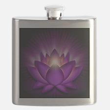 Chakra Lotus - Crown Violet - square Flask