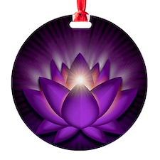 Chakra Lotus - Crown Violet - squar Ornament
