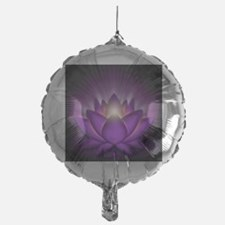 Chakra Lotus - Crown Violet - square Balloon